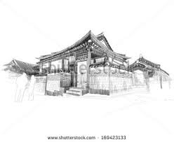 korea traditional house stock images royalty free images