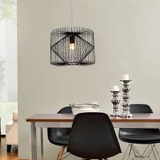 Esszimmer Deckenleuchte Lux Pro Deckenleuchte Schwarz Metall Pendelleuchte Gitter