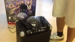 ion portable speaker system with party lights party rocker by ion unboxing wireless speaker system youtube