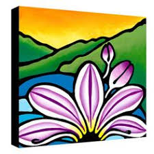 Caplan Art Designs Beach Blooms 12x24 Giclee On Canvas Canvases Products And Beaches