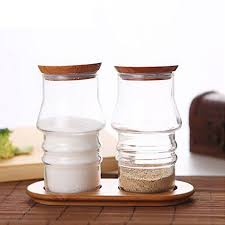aliexpress com buy 2pcs glass kitchen storage jars set canister