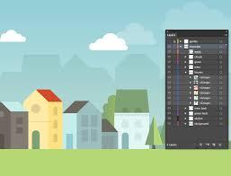 tutorial illustrator layers create a cityscape in adobe illustrator veerle s blog 3 0