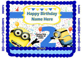 despicable me cake topper personalized despicable me minions edible image cake topper 1 4