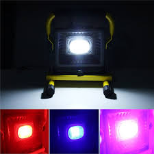 battery powered work lights 3 colors 50w portable led floodlight work light rechargeable battery