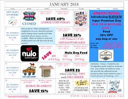 2018 january savings calendar spring creek feed