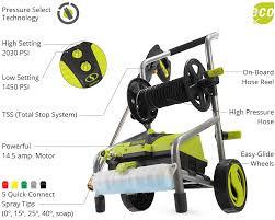 sun joe spx4001 electric pressure washer 2030 psi hose reel