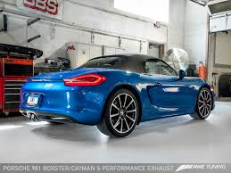 porsche boxster s exhaust awe tuning porsche 981 boxster s performance exhaust awe tuning