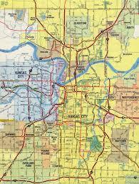 Kansas State Map Interstate Guide Interstate 635 Kansas Missouri