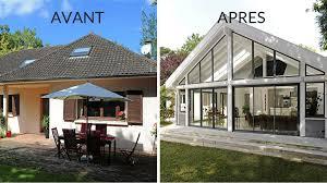 maison rénovée avant après avant après créer une pièce de vie ouverte sur le jardin