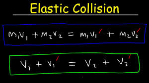 elastic collisions in one dimension physics problems conservation of momentum kinetic energy