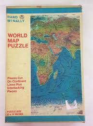 World Map Puzzles by Vintage Original Rand Mcnally World Map Puzzle Size 22 X 14 Inches