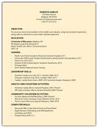 Basic Job Resume Examples by Cover Letter For Veterinary Volunteer