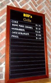 menu boards and restaurant signage boards