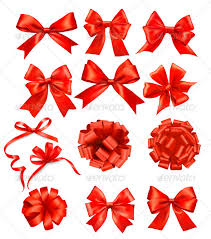 decorative bows big set of gift bows with ribbons by almoond graphicriver