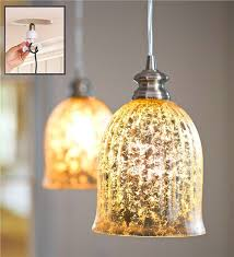 Battery Operated Pendant Lights Screw In Mercury Glass Pendant Light Lamps U0026 Lighting