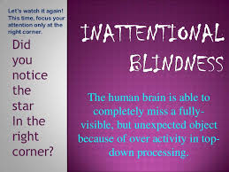 Time Blindness Inattentional Blindness Wikicog
