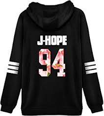 amazon com bts bangtan boys black hoody sweater pullover