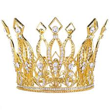 amazon com gold medieval royal queen plastic crown prince costume