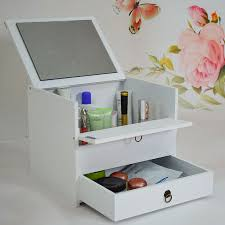 Makeup Organizer Desk by Home Design Wood Makeup Organizer With Drawers Fireplace Home