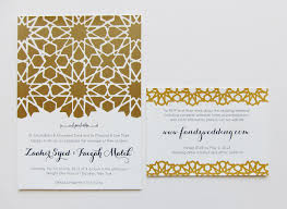 islamic wedding invitation alive kicking screen printed wedding paper suite islamic