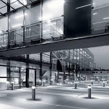 garden bollard light contemporary steel led column simes