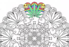 mandala coloring marijuandala printable coloring