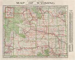 map of wyoming clason s guide map of wyoming geographicus antique maps
