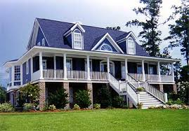 gracious low country house plan 9135gu architectural designs