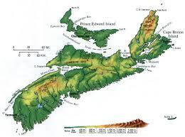 Map Of Nova Scotia Nova Scotia Topographic Map