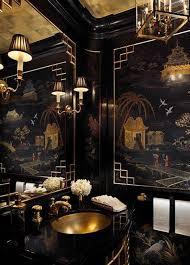 Bathroom In Black A Very Blah Powder Room Transforms Into A Jewel Box Laurel Home