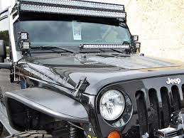 jeep jk light bar brackets industries jeep jk 20 light bar hood mount kit