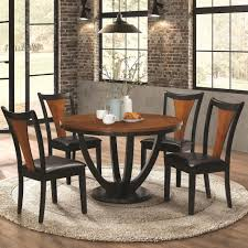 5 piece table and chair set coaster boyer contemporary 5 piece table and chair set with two tone