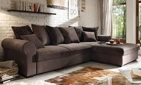 sofa braun ecksofa mit schlaffunktion schlafsofa sofa braun grau