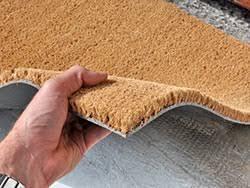 zerbino di cocco cocco naturale 17mm tappeto su misura