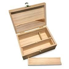 medium wooden storage box w latching lid rolling jig green