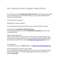 Comcast Help Desk Number Get Comcast Email Support Help Number Online