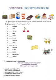 Countable And Uncountable Worksheet For Grade 2 Teaching Worksheets Countable And Uncountable Nouns