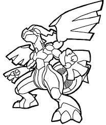 20 dessins de coloriage Pokemon Zekrom à imprimer