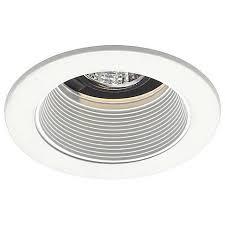 juno led recessed lights juno 4 low voltage white baffle recessed light trim 19190