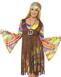 1960s Halloween Costumes 60 U0027s 1960s Groovy Lady Hippie Disco Peace Love Halloween