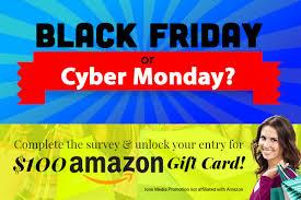 black friday amazon gift card black friday u0026 cyber monday 100 amazon gift card u2013 expired