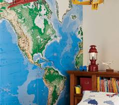 World Map Wall Mural Pottery Barn U2022 Wall Design