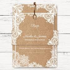 rustic wedding invites rustic wedding lace boutique wedding invitation rsvp