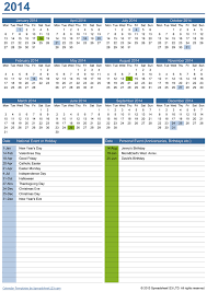 perpetual yearly calendar with birthdays free template for excel