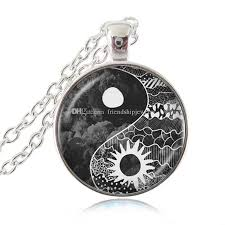 wholesale yin yang sun and moon pendant necklace chi jewelry