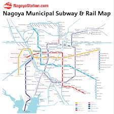 Subway Map by Nagoya Subway U2013 Nagoya Station