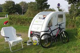 this foldable bicycle camper lets you live comfortably on the road