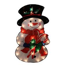 30 lighted shimmering snowman outdoor yard decoration