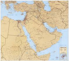 East Asia Political Map Large Scale Detailed Political Map Of The Middle East With Roads
