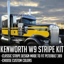 kenworth truck colors custom kenworth w9 seminole stripe kit u2013 cool design ninja
